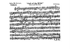 Call of the Wild: Cornet solo part by Frank Hoyt Losey