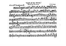 Call of the Wild: Trombones I, II parts by Frank Hoyt Losey