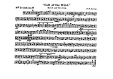 Call of the Wild: Trombone III part by Frank Hoyt Losey