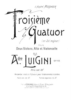 String Quartet No.3 in G Major, Op.53: Viola part by Alexandre Luigini