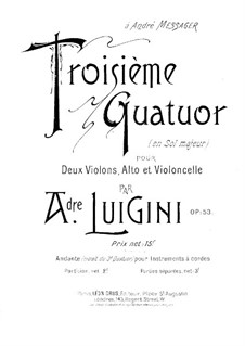 String Quartet No.3 in G Major, Op.53: Violin I part by Alexandre Luigini