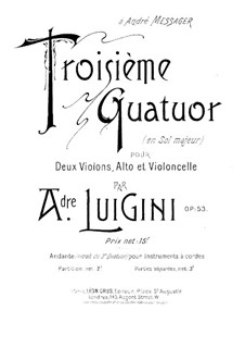 String Quartet No.3 in G Major, Op.53: Violin II part by Alexandre Luigini