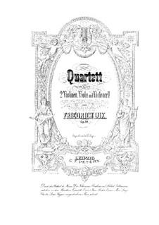 String Quartet in D Minor, Op.58: Violin I part by Friedrich Lux