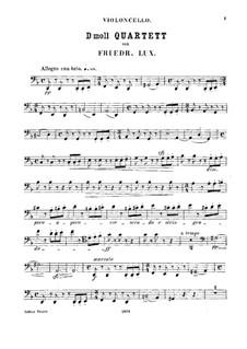 String Quartet in D Minor, Op.58: Cello part by Friedrich Lux