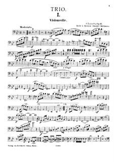 Piano Trio No.2, Op.37: Cello part by Fortunato Luzzatto