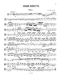 Grand Nonet, Op.31: Viola part by Louis Spohr