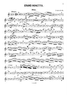 Grand Nonet, Op.31: Oboe part by Louis Spohr