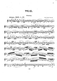 Grand Piano Trio No.4 in B Flat Major, Op.133: Violin part by Louis Spohr