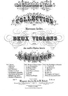 Les Délassemens de l'étude: On themes from 'La straniera' by Bellini for two violins – violin I part by Joseph Küffner