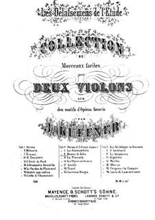 Les Délassemens de l'étude: On themes from 'I Capuleti e i Montecchi' by Bellini for two violins – violin I part by Joseph Küffner