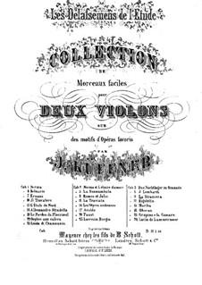 Les Délassemens de l'étude: On themes from 'La straniera' by Bellini for two violins – violin II part by Joseph Küffner