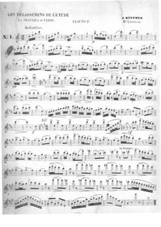 Les Délassemens de l'étude: On themes from 'La Traviata' by Verdi for two flutes – flute I part by Joseph Küffner
