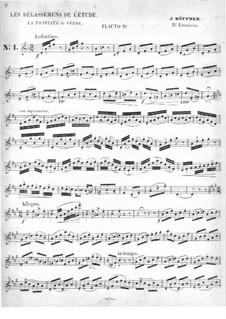 Les Délassemens de l'étude: On themes from 'La Traviata' by Verdi for two flutes – flute II part by Joseph Küffner