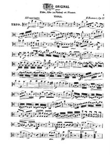 Trio for Flute, Viola and Piano, Op.75: Viola part by Kaspar Kummer