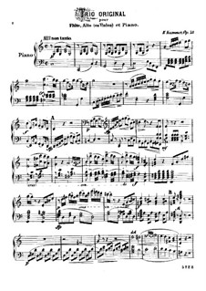 Trio for Flute, Viola and Piano, Op.75: Piano part by Kaspar Kummer