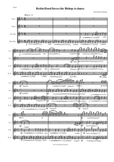 Robin Hood forces the Bishop of Hereford to dance: For flute quartet by David W Solomons