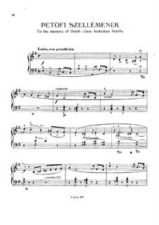 Petöfi Szellémenek (To the Memory of Petöfi), S.195: Petöfi Szellémenek (To the Memory of Petöfi) by Franz Liszt