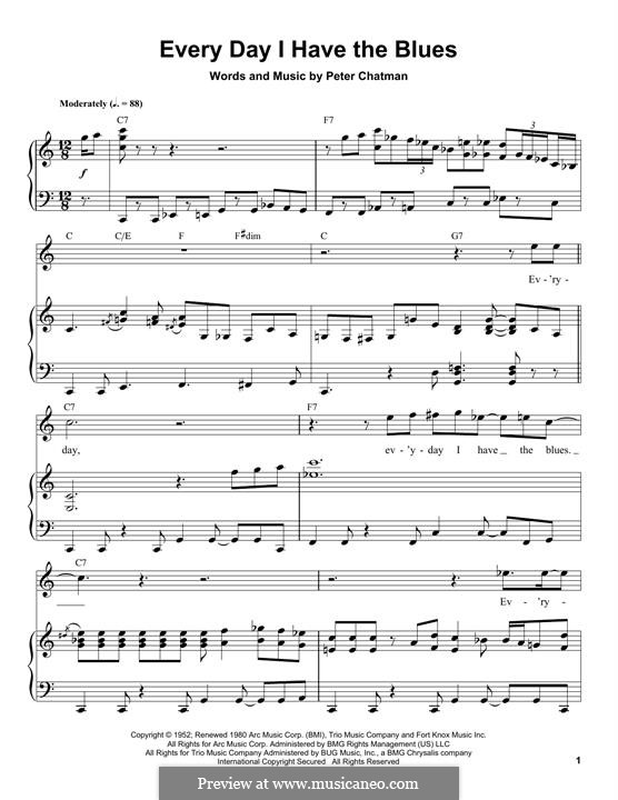 Everyday I Have the Blues: For piano by Peter Chatman