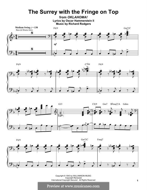 The Surrey with the Fringe on Top: For piano (Oscar Peterson) by Richard Rodgers