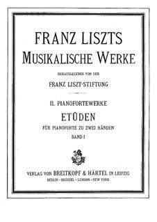 Études d'exécution transcendante, S.136: For piano by Franz Liszt