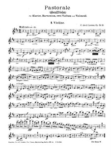 Pastorale for Piano, Harmonium, Two Violins and Cello, Op.52B: Violin I part by Karl Adolf Lorenz