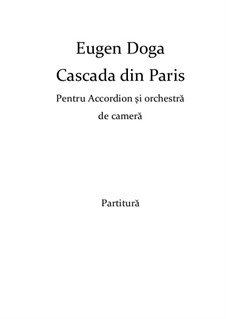 Cascade de Paris: For ensemble instruments by Eugen Doga