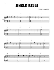Jingle Bells, for Piano: Long version by James Lord Pierpont
