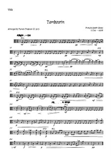 Tambourin in F Major: For flute and strings - viola part by François Joseph Gossec