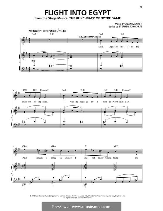 Flight Into Egypt: For voice and piano by Alan Menken