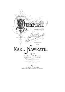 String Quartet No.2 in D Minor, Op.21: Cello part by Karel Navratil