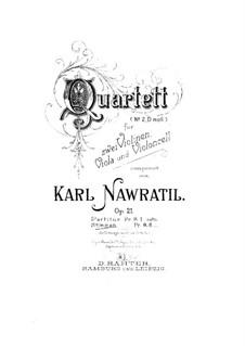 String Quartet No.2 in D Minor, Op.21: Viola part by Karel Navratil