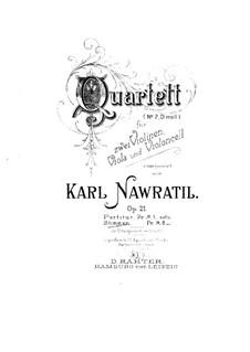 String Quartet No.2 in D Minor, Op.21: Violin I part by Karel Navratil