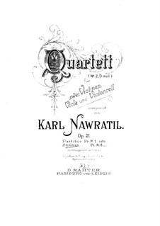 String Quartet No.2 in D Minor, Op.21: Violin II part by Karel Navratil