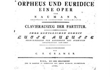 Orpheus og Eurydike: Piano-vocal score by Johann Gottlieb Naumann