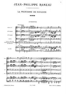 La princesse de Navarre (The Princess of Navarre), RCT 54: Overture by Jean-Philippe Rameau