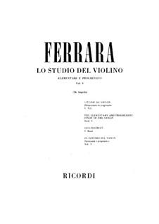 Elementary and Progressive Violin School: Volume V by Bernardo Ferrara