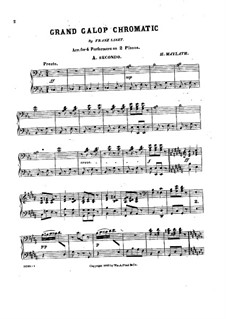Grand Chromatic Galop, S.219: For two pianos eight hands by Franz Liszt
