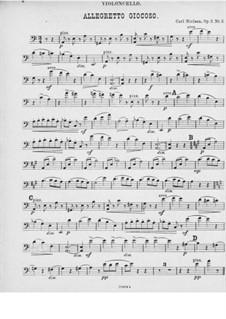 Five Piano Pieces, FS 10 Op.3: No.2 Humoresque for piano trio – cello part by Carl Nielsen