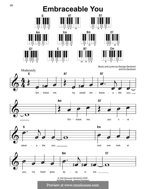 Embraceable You: For piano by George Gershwin