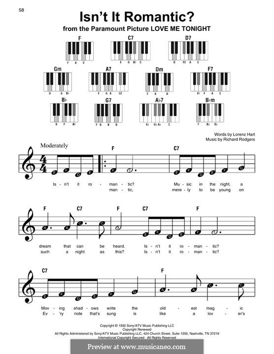 Isn't it Romantic?: For piano by Richard Rodgers