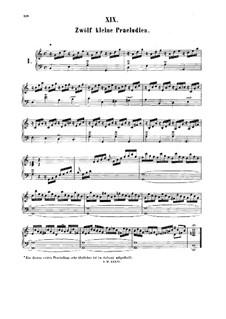 Twelve Little Preludes: Complete set by Johann Sebastian Bach