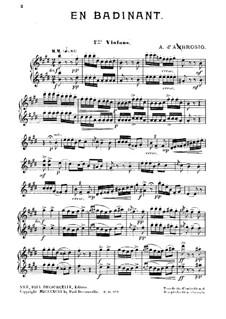 En Badinant: Violins I part by Alfredo D'Ambrosio