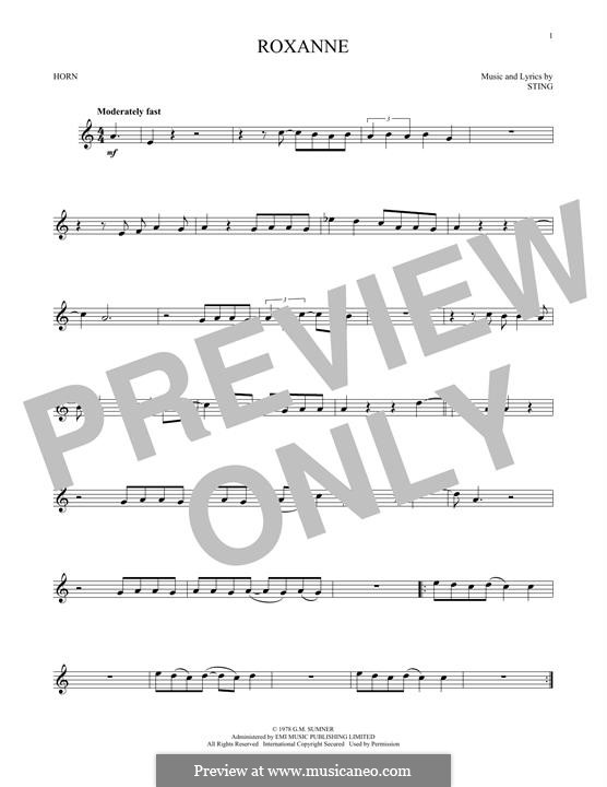 Roxanne The Police By Sting Sheet Music On Musicaneo