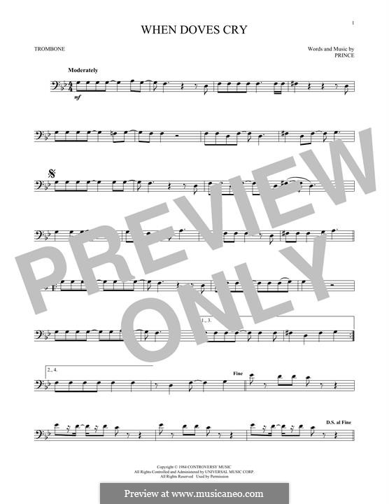 When Doves Cry: For trombone by Prince