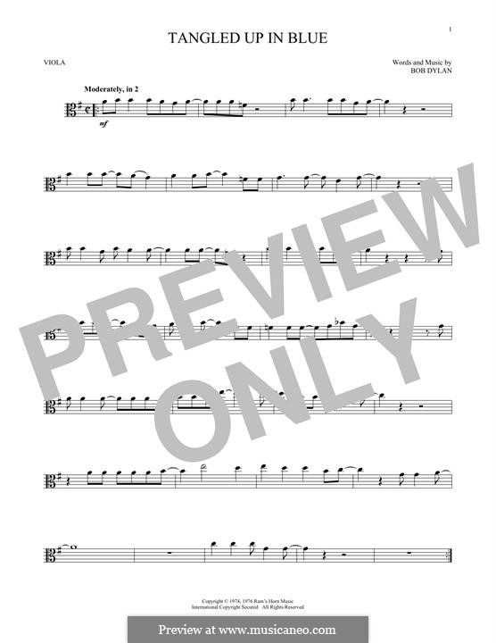 Tangled Up in Blue by B. Dylan - sheet music on MusicaNeo