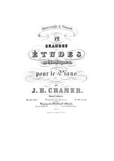 Douze grandes etudes mélodiques, Op.107: Complete set by Johann Baptist Cramer