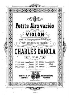 Six airs variés, Op.89: No.1 Aria with Variations by Paccini by Charles Dancla