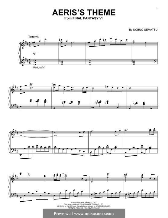 Aeris's Theme: For piano by Nobuo Uematsu