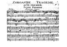 Zoroastre, RCT 62: Acts I-II by Jean-Philippe Rameau