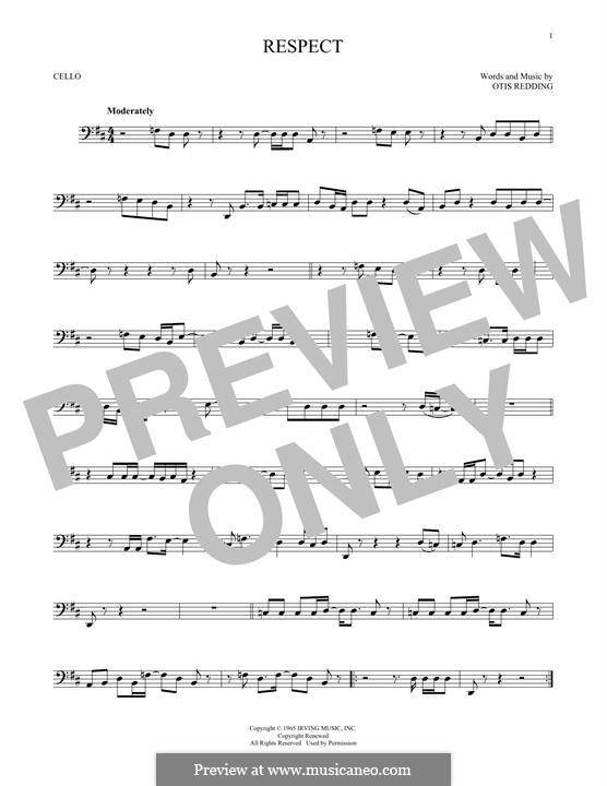Respect (Aretha Franklin): For cello by Otis Redding
